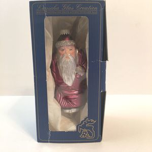 Lauscha Glas Creation Glass Santa Ornament
